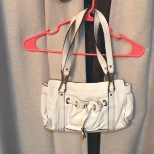 White and gold Calvin Klein shoulder bag